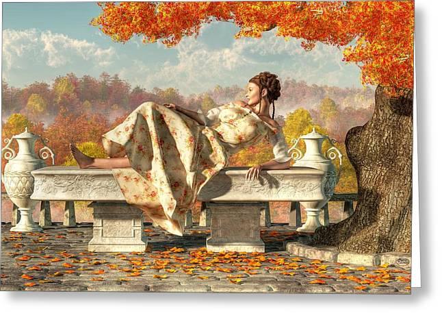 Duchess Greeting Cards - Neoclassical Fall Greeting Card by Daniel Eskridge