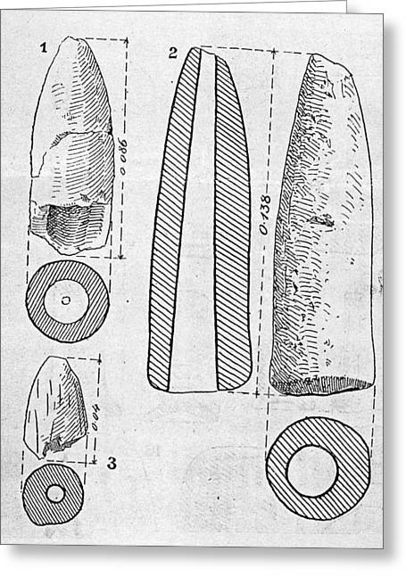 Phallus Greeting Cards - Neolithic Phallus Figures Greeting Card by Granger