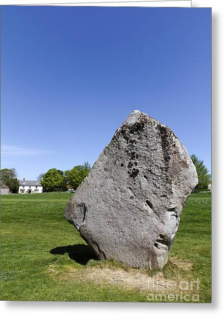 Monolith Greeting Cards - Neolithic standing stone at Avebury in Wiltshire England Greeting Card by Robert Preston