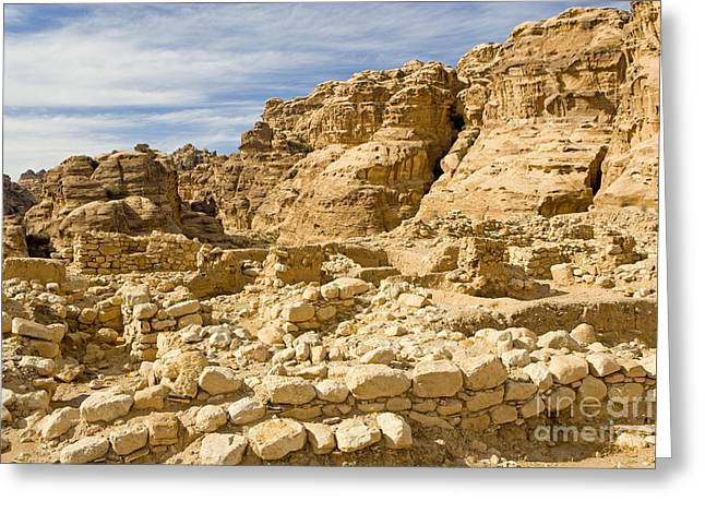 Neolithic Village, Beidha, Jordan Greeting Card by Adam Sylvester