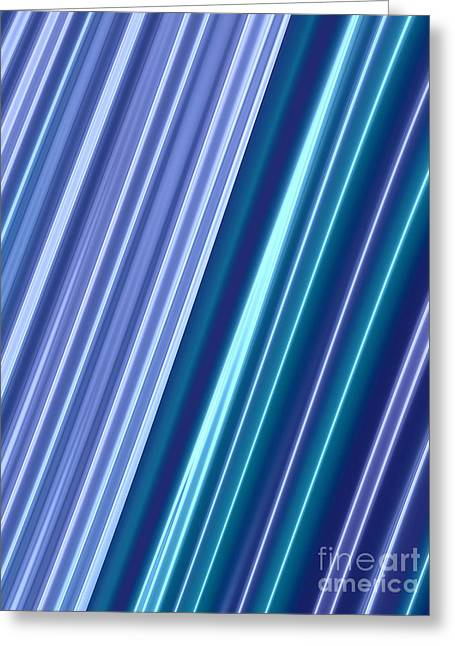 Neon Greeting Cards - Neon Abstract Greeting Card by John Edwards