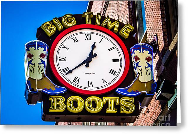 Music Time Greeting Cards - Neon Boots Greeting Card by Perry Webster