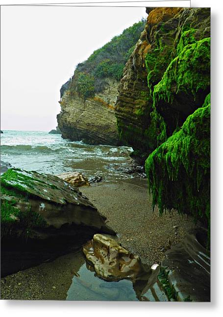 Cliffs Pyrography Greeting Cards - Neon Cove Greeting Card by Andrew  Stoffel