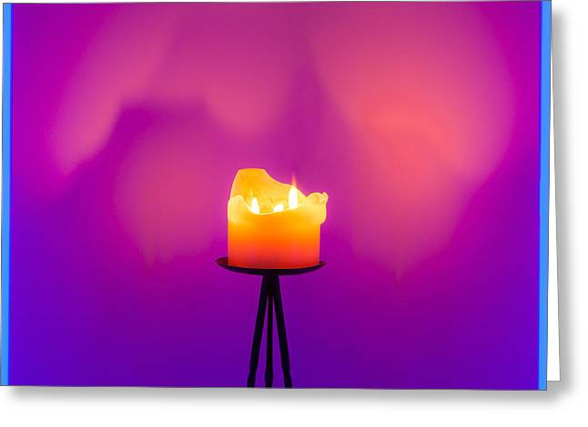 Fluorescent Yellow Greeting Cards - Neon Fire Greeting Card by Semmick Photo