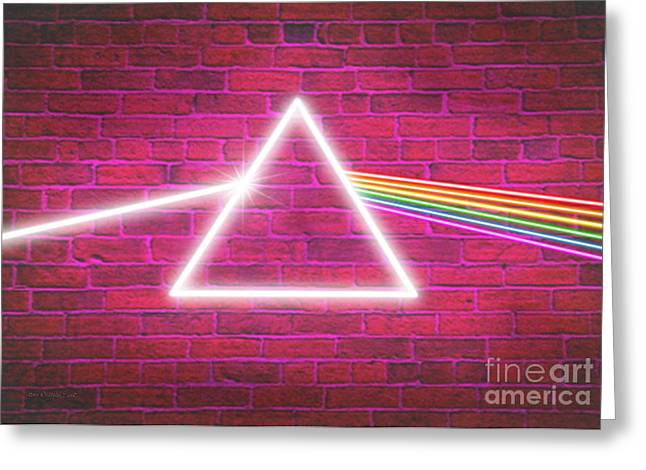 Here Greeting Cards - Neon Floyd Greeting Card by Cristophers Dream Artistry
