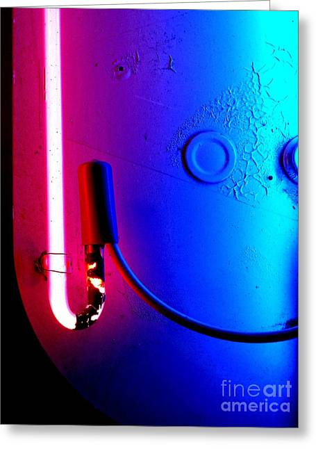 Neon Glow 2 Greeting Card by Newel Hunter