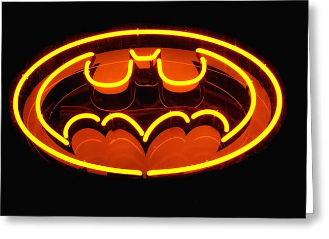 Gotham City Greeting Cards - Neon Knight - Hero Rising Greeting Card by Steven Milner
