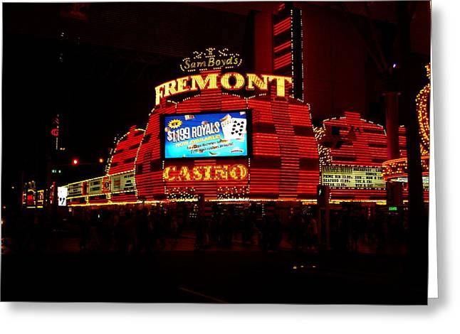 Neon Lights Greeting Card by Lizbeth Bostrom