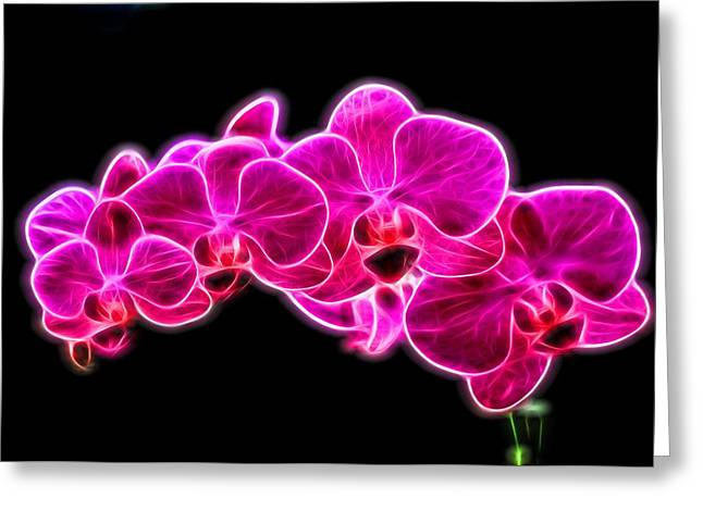 Perfumer Greeting Cards - Neon Orchid Greeting Card by Dan Sproul