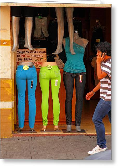 Levis Greeting Cards - Neon Posteriors Greeting Card by Stephen Dennstedt