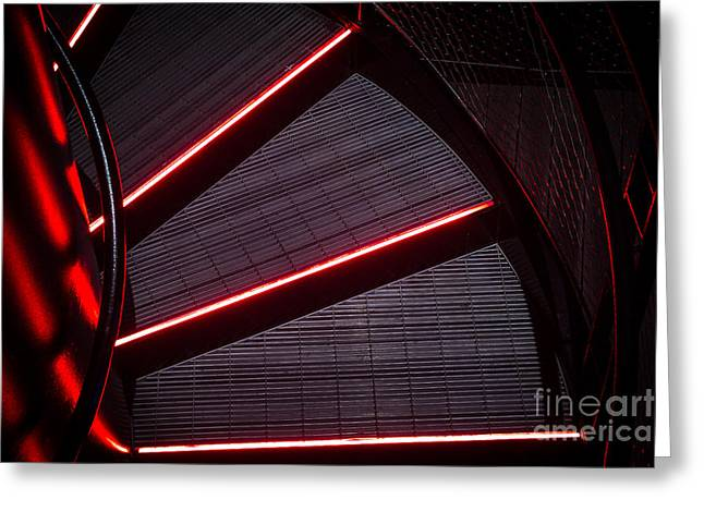 Grate Greeting Cards - Neon Stairs Greeting Card by Andrew Slater