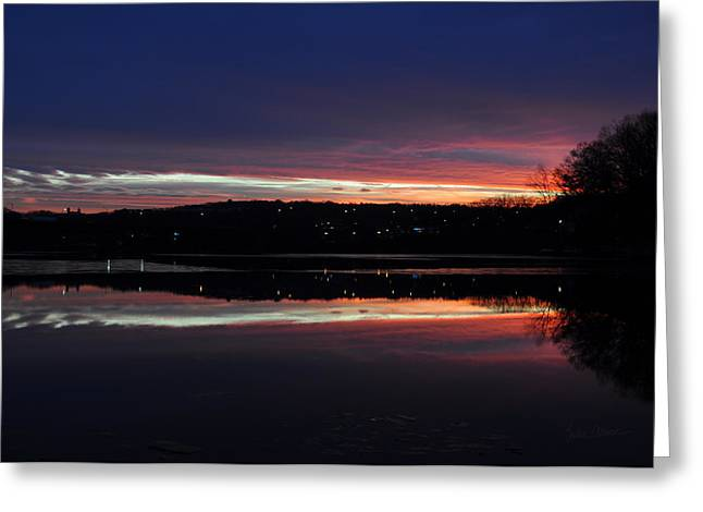 Amazing Sunset Greeting Cards - Neon Sunset Greeting Card by Luke Moore