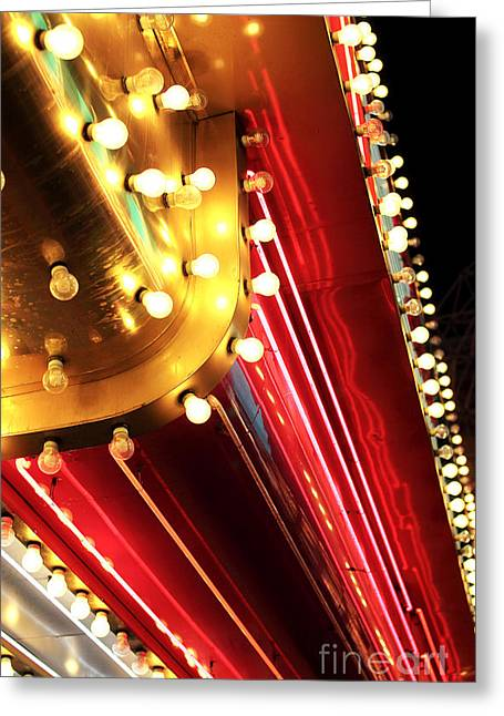 Freemont Street Experience Greeting Cards - Neon Vegas Greeting Card by John Rizzuto
