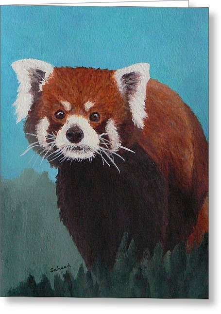 Nepalese Forest Dweller Greeting Card by Margaret Saheed
