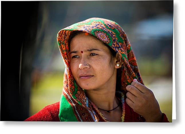 Tony Murray Greeting Cards - Nepali Woman Greeting Card by Tony Murray