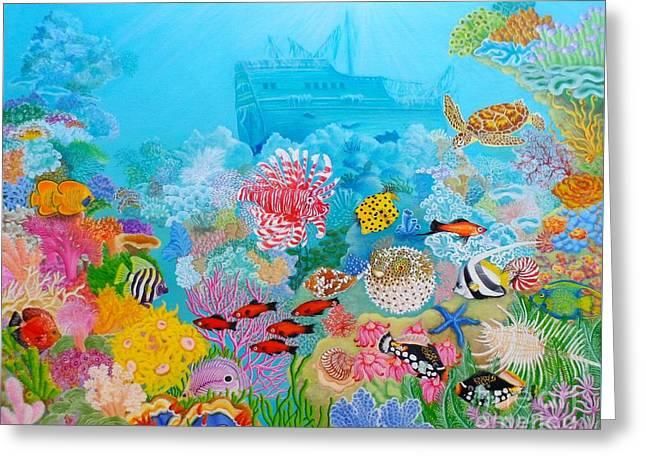 Sea Lions Greeting Cards - Neptune Kingdom Greeting Card by Loreta Mickiene