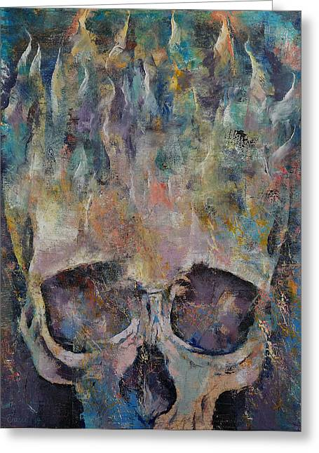 Fossil Art Greeting Cards - Neptune Greeting Card by Michael Creese