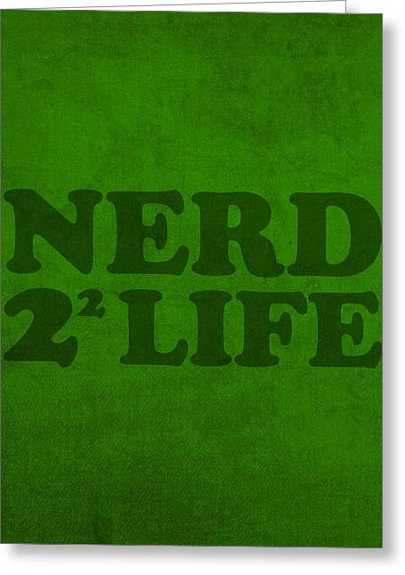 Nerd Greeting Cards - Nerd 4 Life Math Formula Humor Poster Greeting Card by Design Turnpike