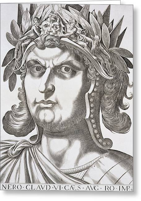 Commit Greeting Cards - Nero Caesar , 1596 Greeting Card by Italian School