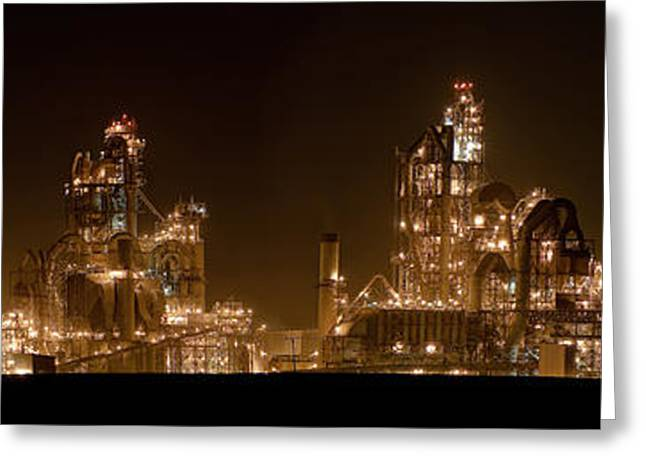 Isaac Silman Greeting Cards - Nesher Cement plant Greeting Card by Isaac Silman