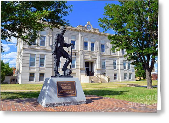 George Washington Carver Greeting Cards - Ness County Courthouse in Kansas Greeting Card by Catherine Sherman