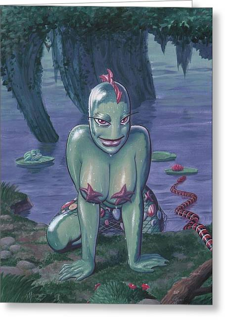 Fantasy Creature Greeting Cards - Nessies Story Greeting Card by Richard Moore