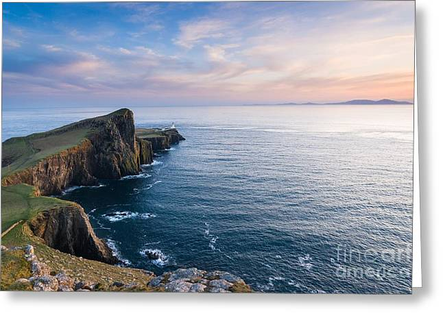 Color Bending Greeting Cards - Nest Point Sunset Greeting Card by Maciej Markiewicz