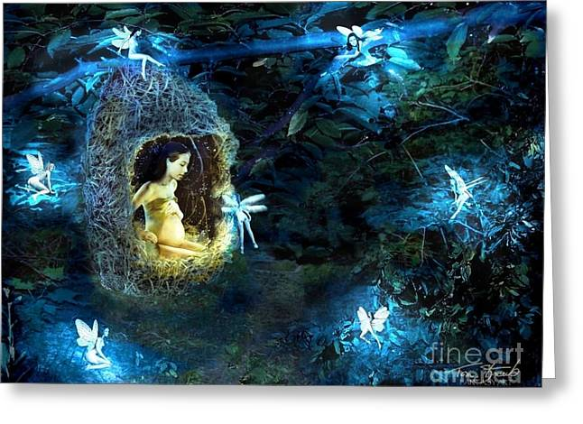 Faerie Tale Greeting Cards - Nest Greeting Card by Tom Straub