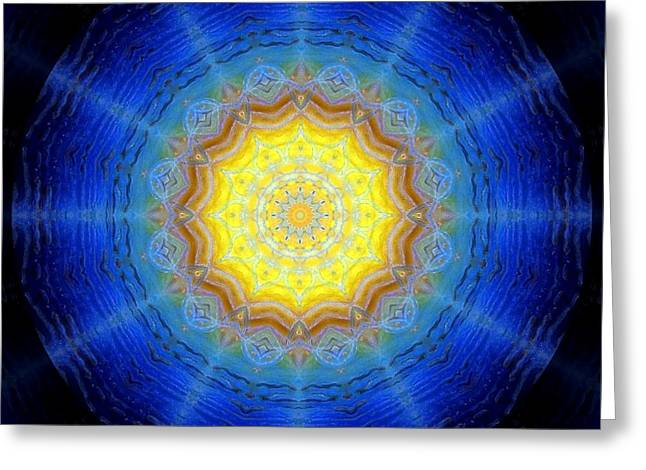 Nested Vibration Greeting Card by Janelle Schneider
