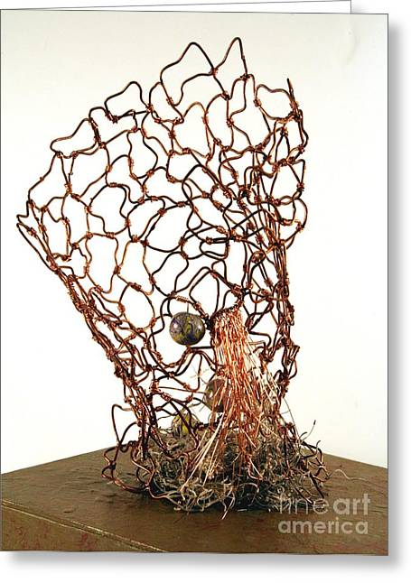 Moss Sculptures Greeting Cards - Nesting Greeting Card by P Russell