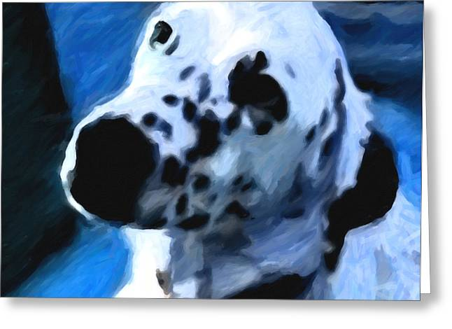 Setter Pointer Greeting Cards - Nestle Greeting Card by Joe Giordano