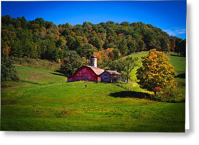 West Virginia Greeting Cards - nestled in the hills of West Virginia Greeting Card by Shane Holsclaw