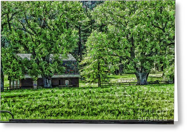 Pastureland Greeting Cards - Nestled In The Trees Greeting Card by Nancy Marie Ricketts