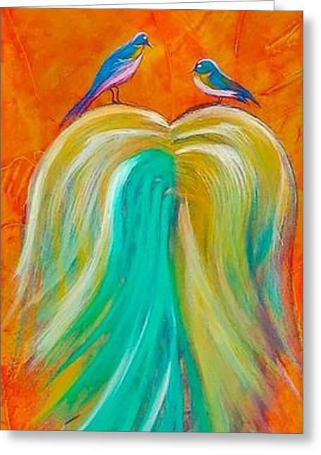 Weeping Greeting Cards - Nestled on a Willow Greeting Card by Barry Knauff