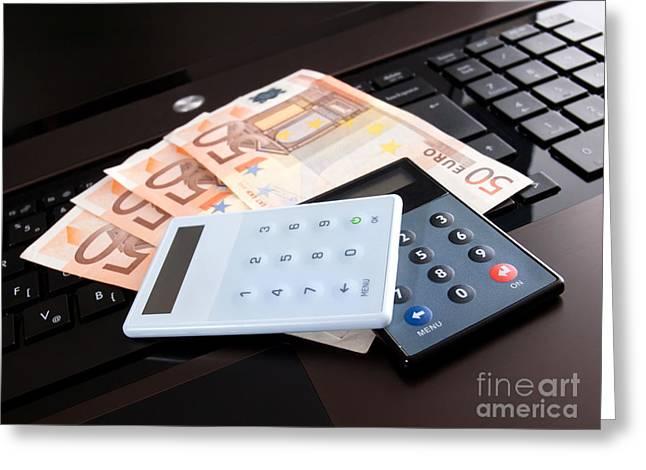 Purchasing Greeting Cards - Net banking Greeting Card by Sinisa Botas