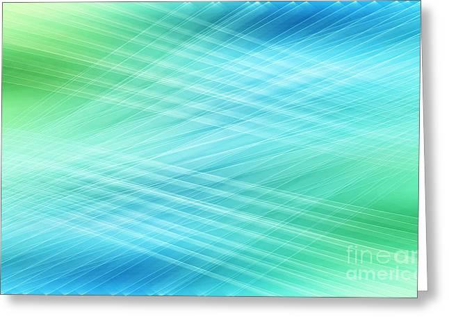 Hannes Cmarits Digital Greeting Cards - Net - Blue Greeting Card by Hannes Cmarits