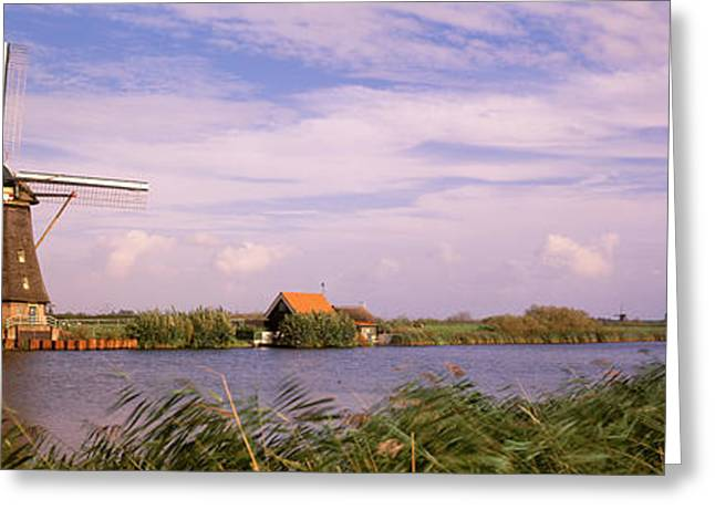 Windy Greeting Cards - Netherlands, Holland, Windmills Greeting Card by Panoramic Images