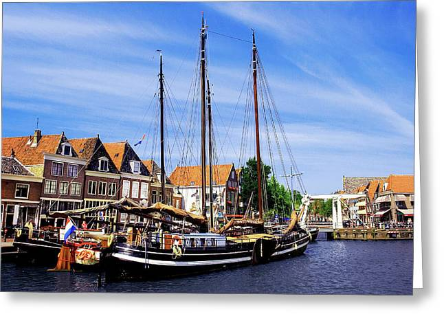 Netherlands, Hoorn, Old Wooden Greeting Card by Miva Stock