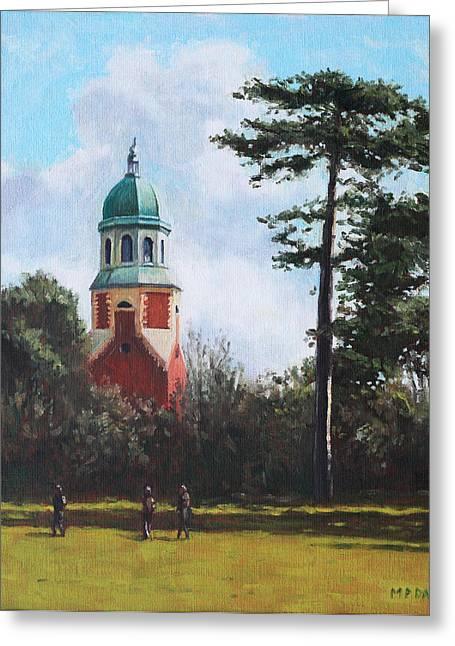 Southampton Paintings Greeting Cards - Netley Hospital Chapel at Weston Shore Greeting Card by Martin Davey