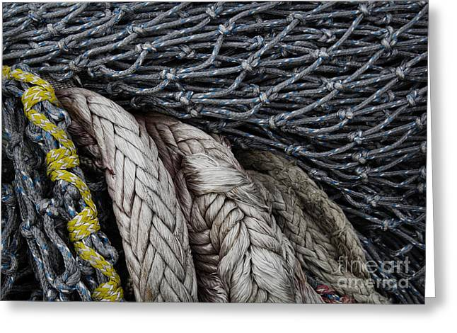 Oregon Fishing Greeting Cards - Nets And Knots Number Two Greeting Card by Elena Nosyreva