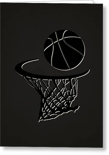 Basket Ball Greeting Cards - Nets Team Hoop2 Greeting Card by Joe Hamilton