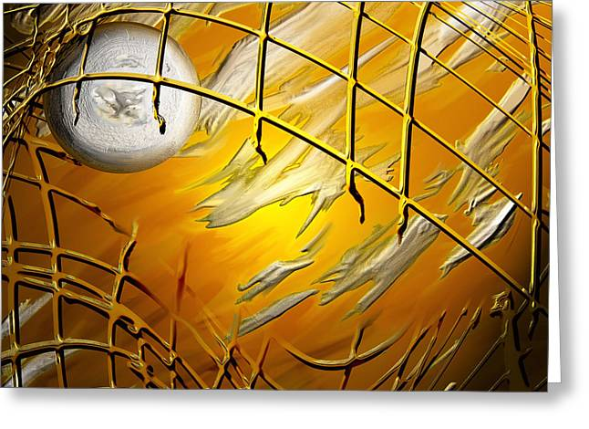 Netting Paintings Greeting Cards - Netted 4 Greeting Card by Kathryn L Novak