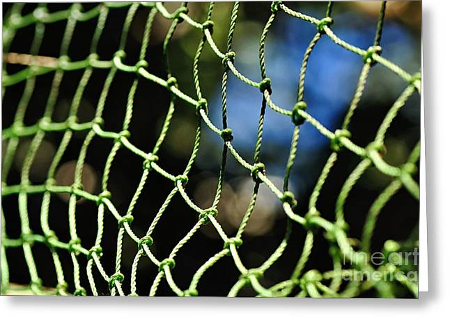 Netting - Abstract Greeting Card by Kaye Menner
