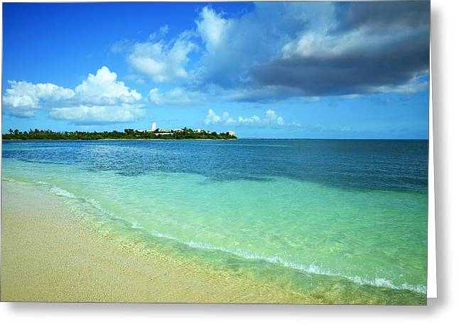Saint-martin Greeting Cards - Nettle Bay Beach St. Maarten Greeting Card by Luke Moore