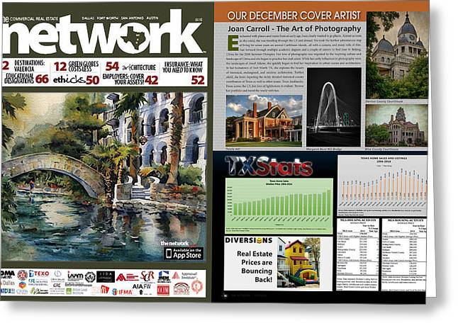 Article Greeting Cards - Network Magazine Feature Greeting Card by Joan Carroll