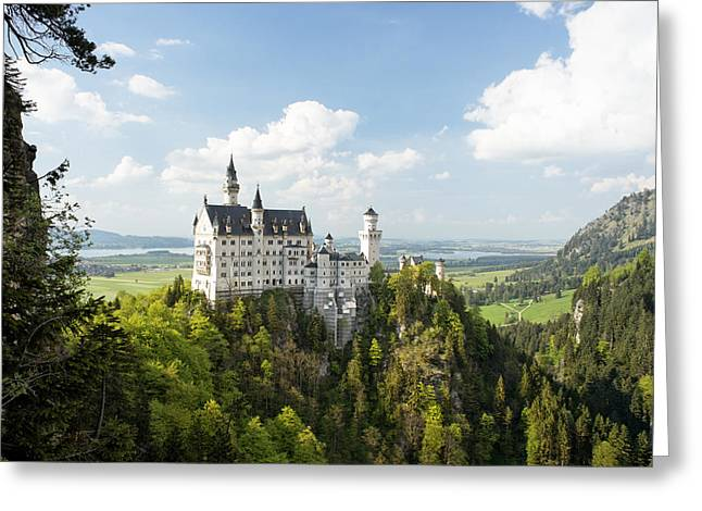 Alp Greeting Cards - Neuschwanstein Castle Greeting Card by Francesco Emanuele Carucci