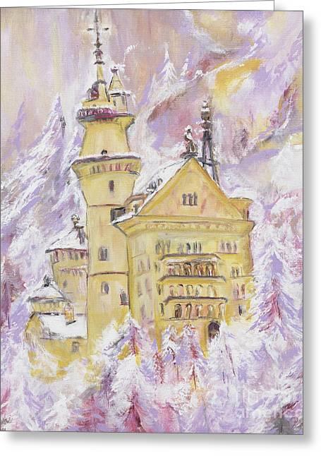Helena Bebirian Greeting Cards - Neuschwanstein Castle  Greeting Card by Helena Bebirian