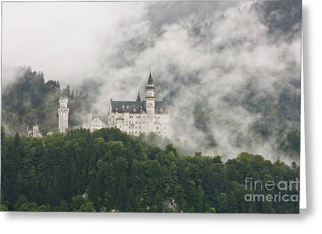 Forboding Greeting Cards - Neuschwanstein Castle II Greeting Card by F Innes - Finesse Fine Art