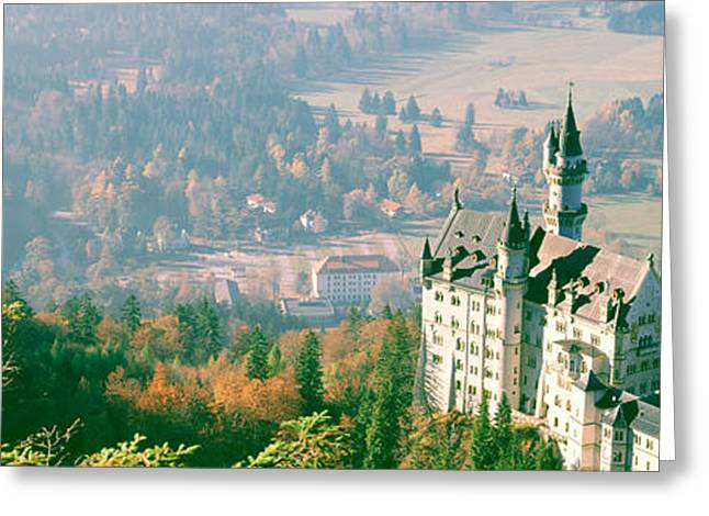 Rich Countries Greeting Cards - Neuschwanstein Castle Schwangau Bavaria Greeting Card by Panoramic Images