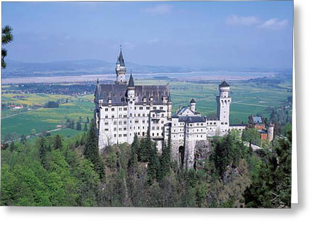 Faint Greeting Cards - Neuschwanstein Palace Bavaria Germany Greeting Card by Panoramic Images